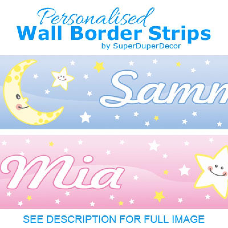Cute moon and stars border