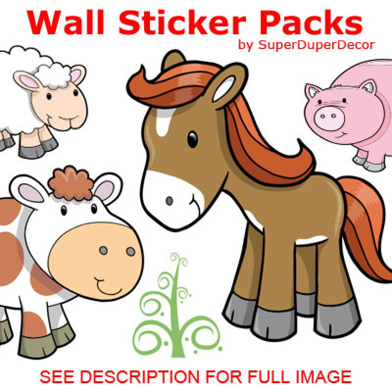 Cute Farm Animals stickers