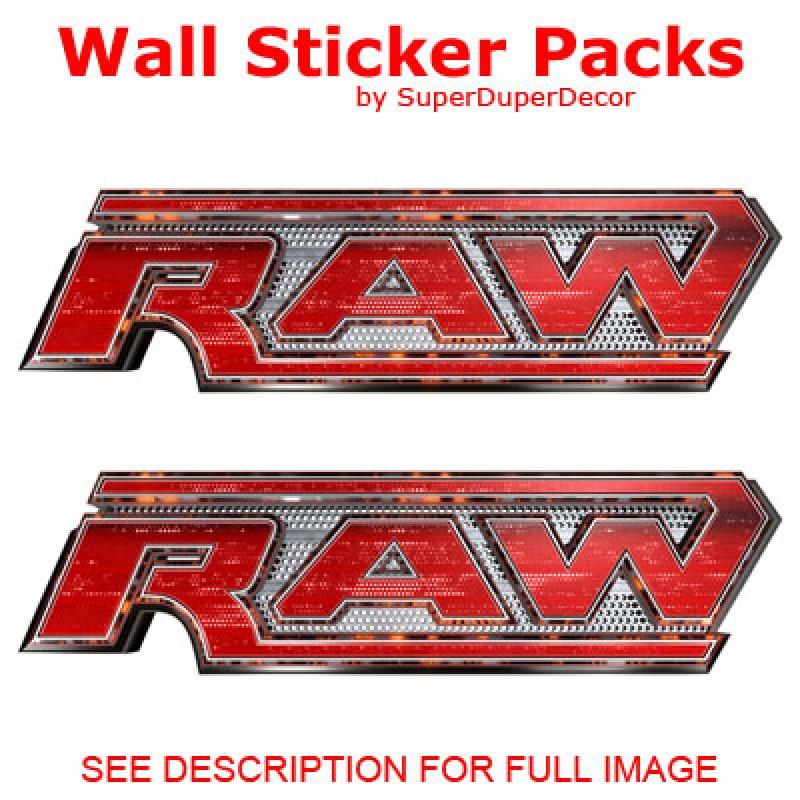 WWE RAW Logo Stickers Part 94